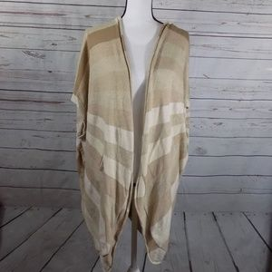 ANTHROPOLOGIE (Sparrow) open front cardigan s/m